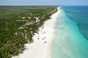 An aerial view of La Vía Laktea, Luxury Beach Cabañas, Tulum, Riviera Maya